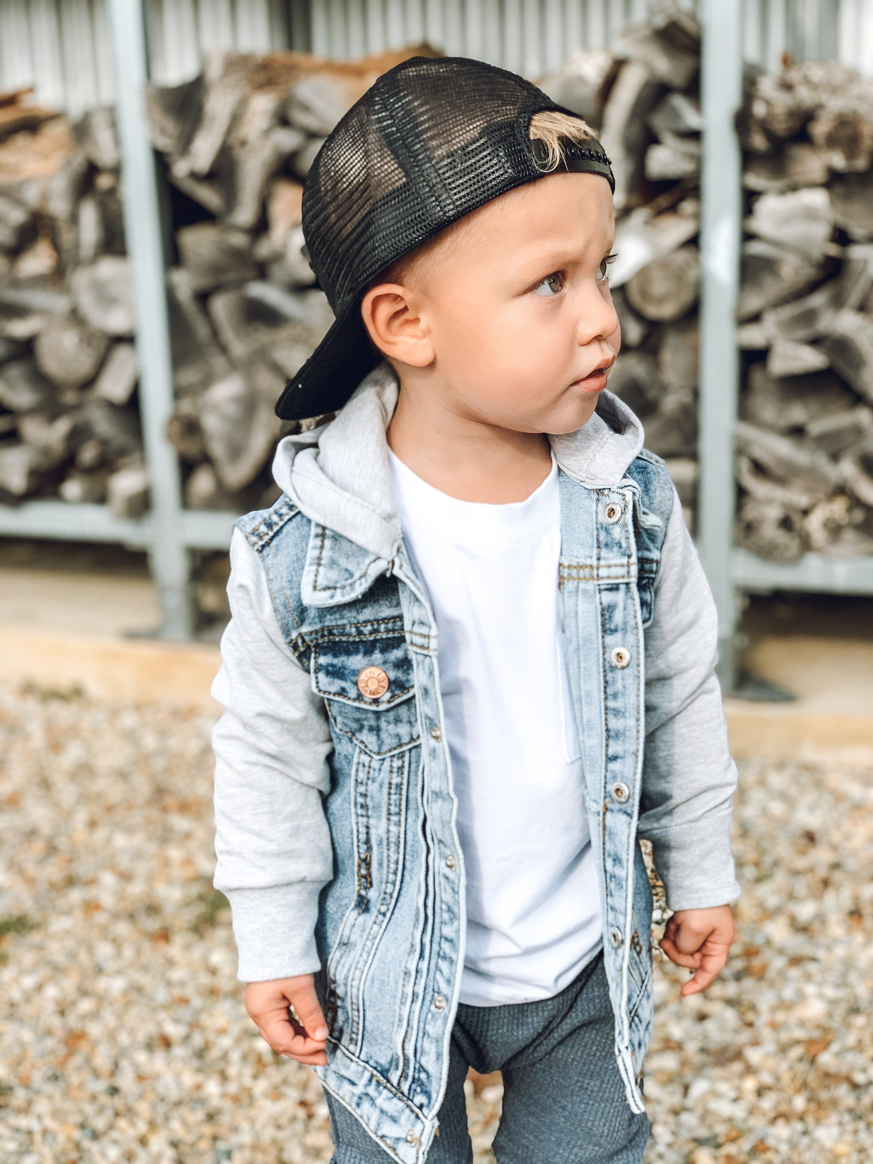 Hooded Denim Jacket Grey In 2021 Trendy Baby Boy Clothes Cute Baby Boy Outfits Boy Outfits [ 4032 x 3024 Pixel ]