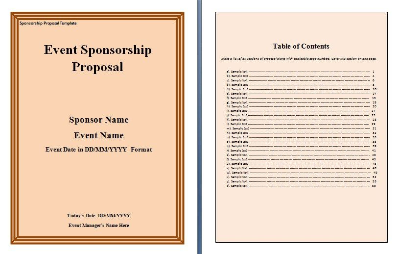 A corporate sponsorship proposal is an official request to do a - sponsorship proposal template