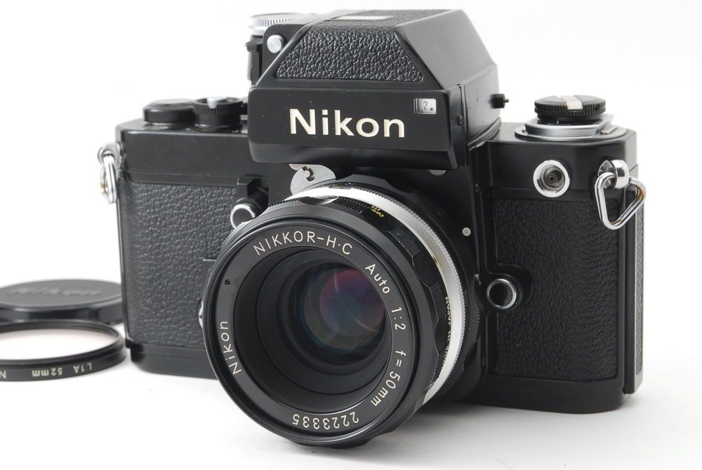 Near Mint Nikon F2 Photomic Black W Nikkor H C Auto 50mm F 2 From Japan 662 Nikon F2 Nikon Antique Cameras