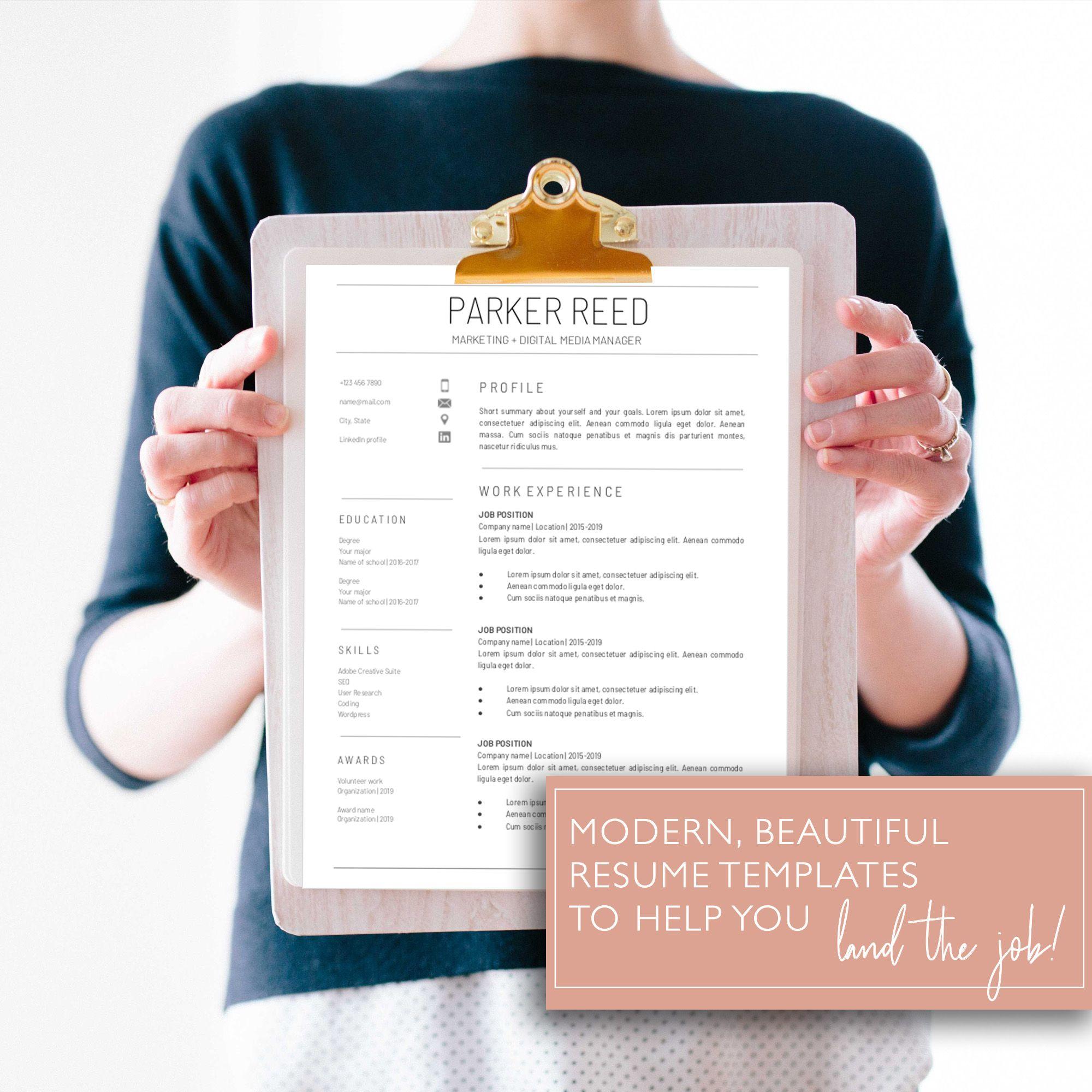 Google Docs Resume Template / Modern Resume / Professional
