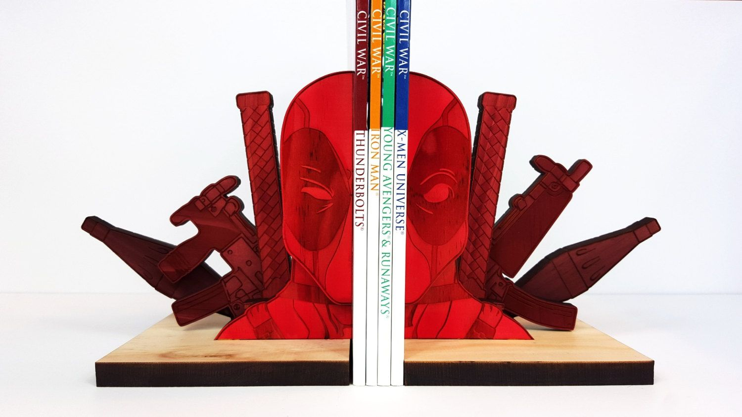 amazing Cool Book Ends Part - 17: Deadpool Bookends