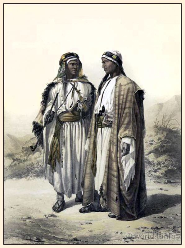 Traditional Arabian Bedouin Costume And Clothing Middle East Fashion Egyptian National Costumes Middle Eastern Clothing Historical Illustration Arabian Women