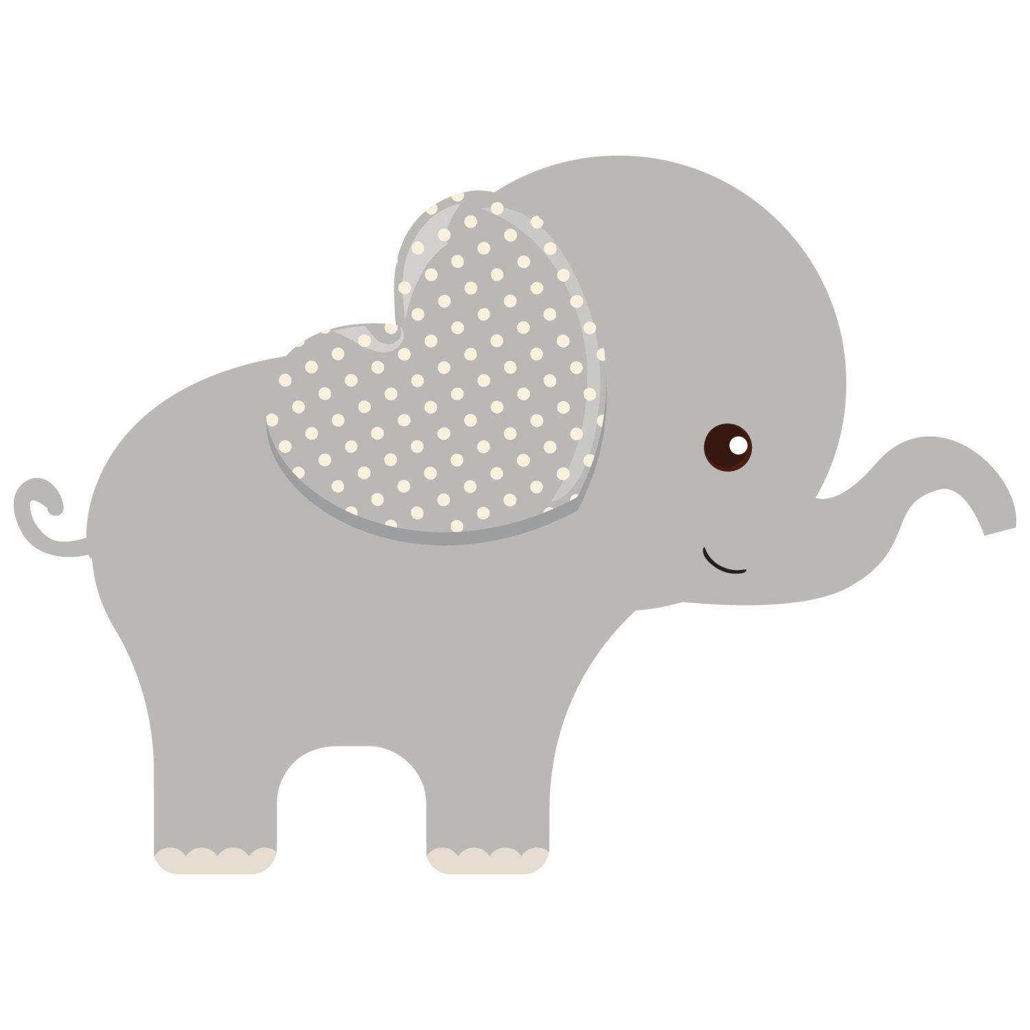 Roses Girl Baby Elephant Template