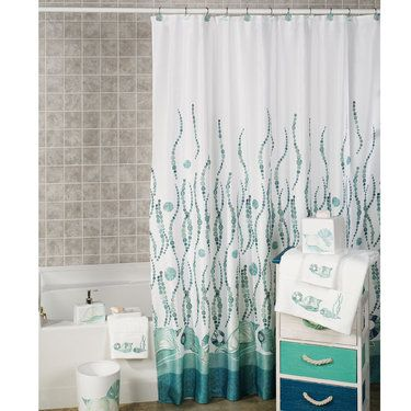 La Mer Coastal Shower Curtain