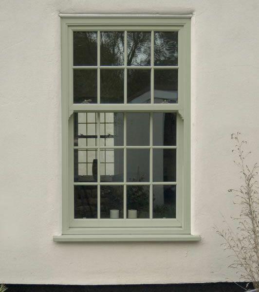 Coloured Upvc Sliding Sash Windows