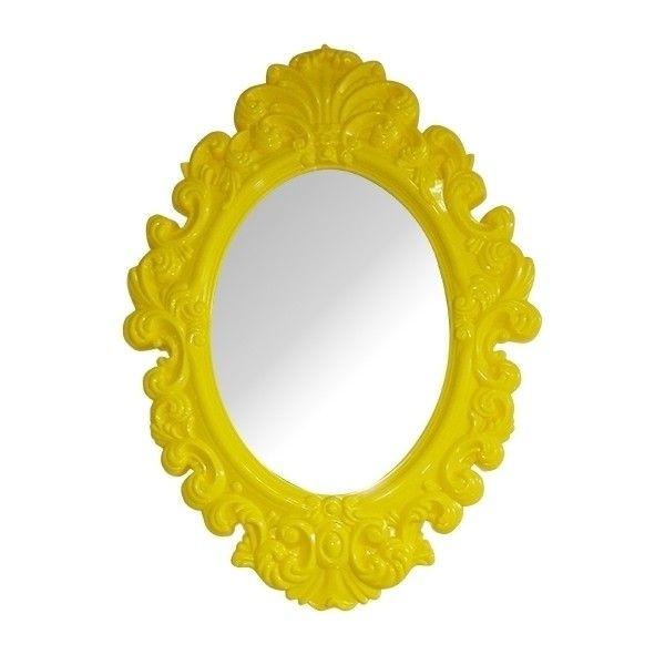 Espelho Rococó Amarelo - 51 x 38 x 3 cm