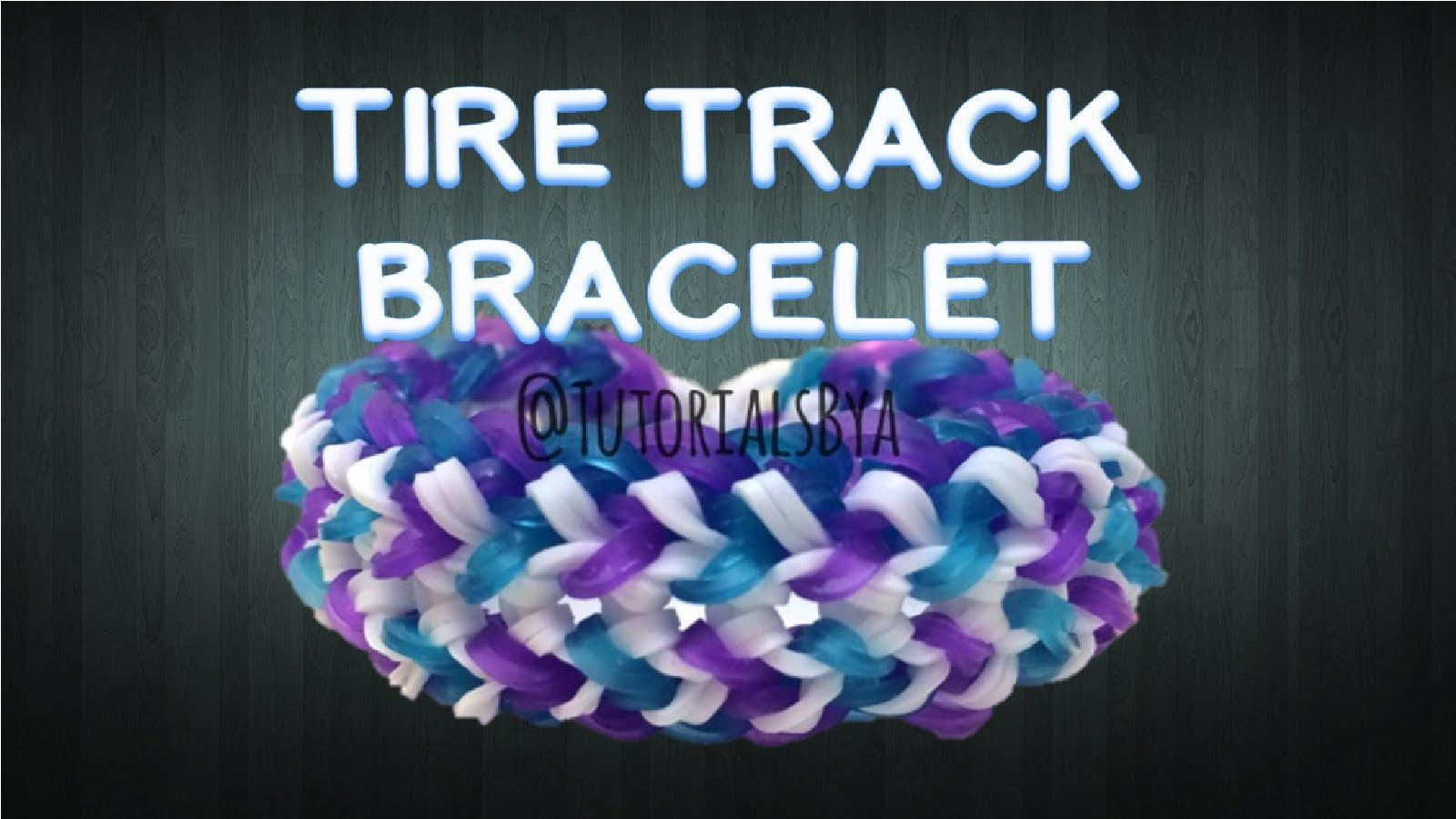 New tire track rainbow loom bracelet tutorialoriginal design