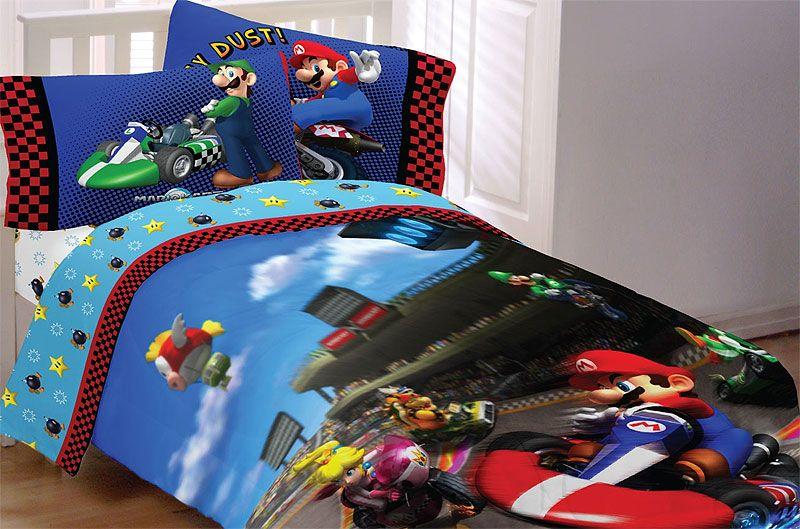 Super Mario Brothers Kids Twin Bedding, Super Mario Bros Full Size Bedding