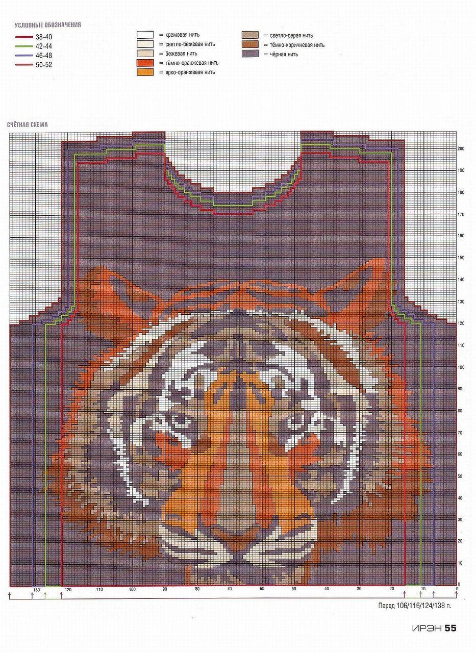 Tiger knit details