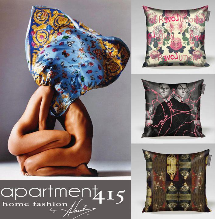 Pattern Love Pillows.  www.apartment415.com