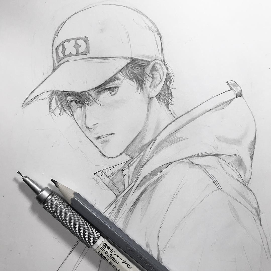 Anime Male Face Drawing Reference