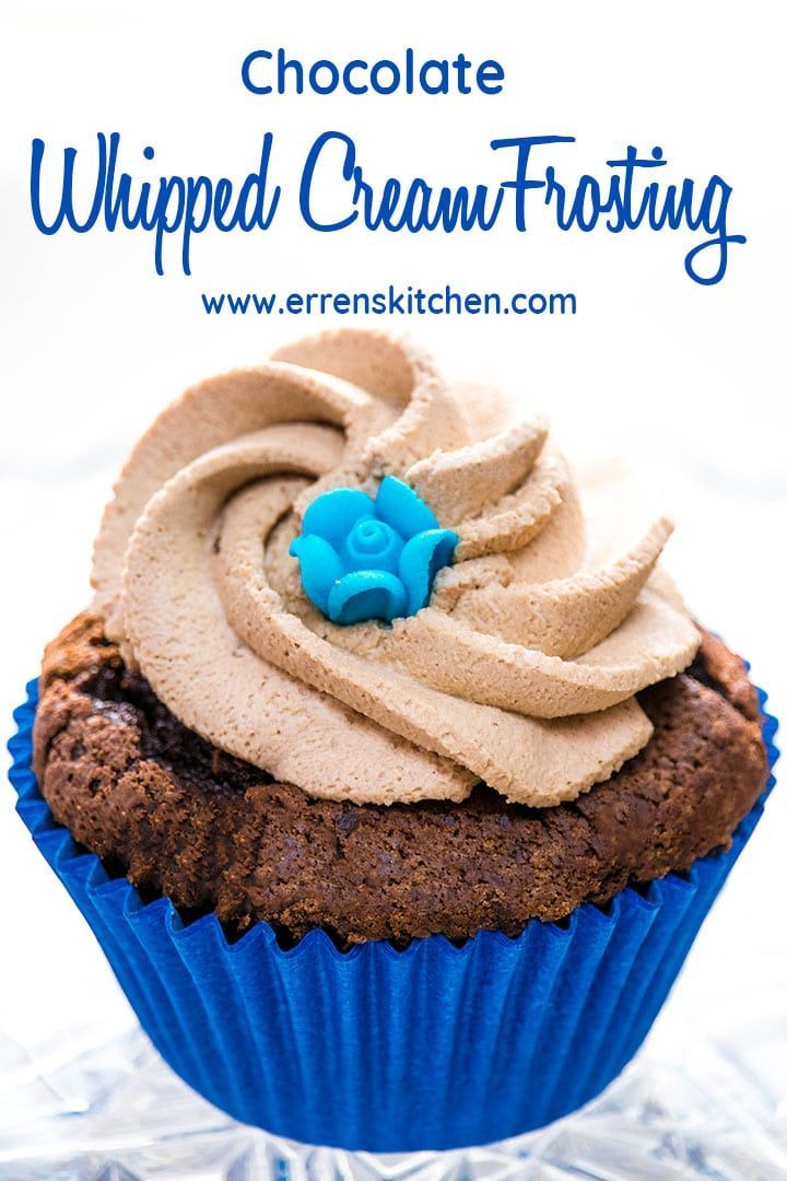 Chocolate Whipped Cream Frosting #stabilizedwhippedcream