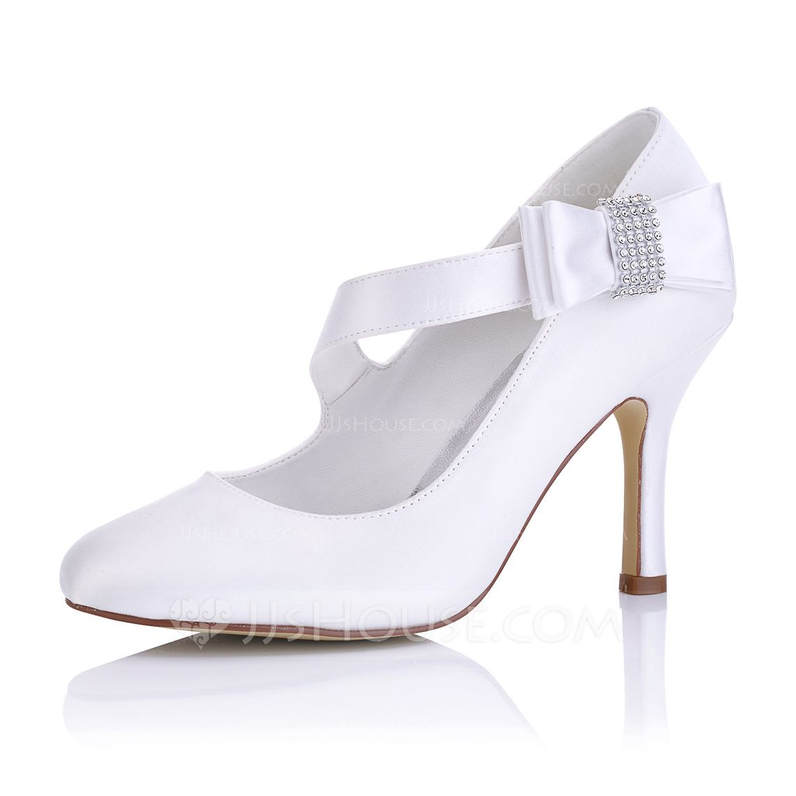 2aec4912 Kvinder Satin Stiletto Hæl Pumps med Andre (047102653) | Wedding shoes