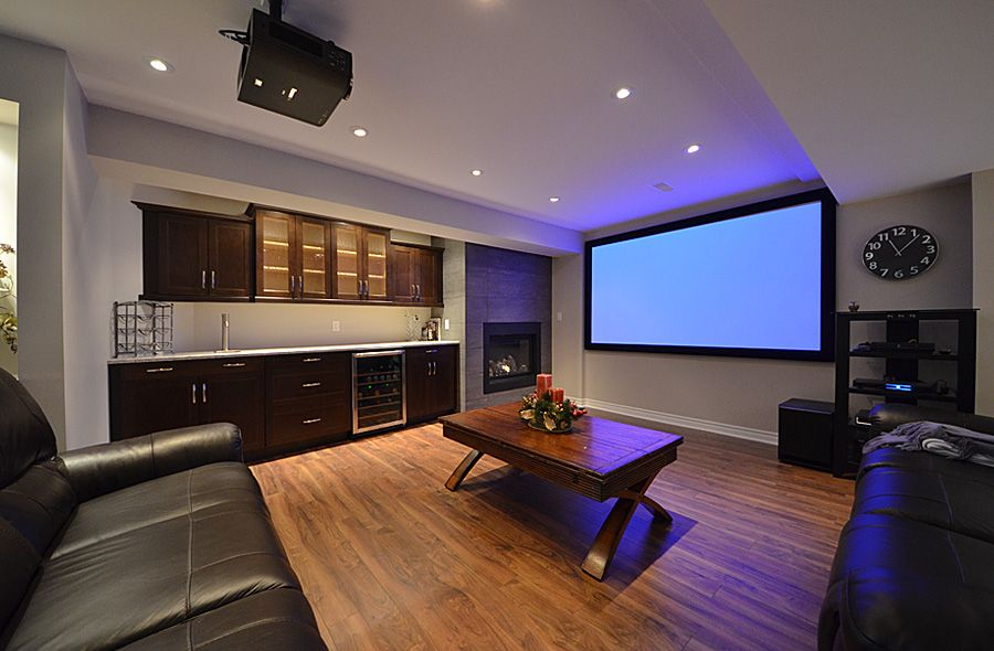 Finished Basement Home Theatre Room, TV Room, Surround