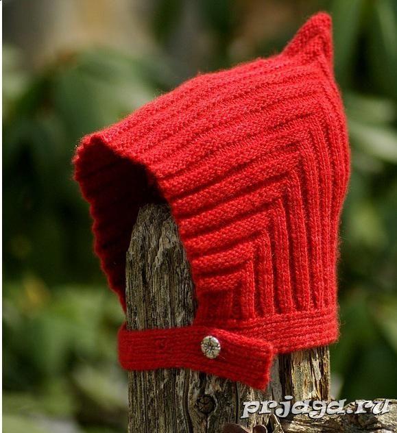 шапочки для детей спицами http://prjaga.ru/vyazanie-dlya-detej ...