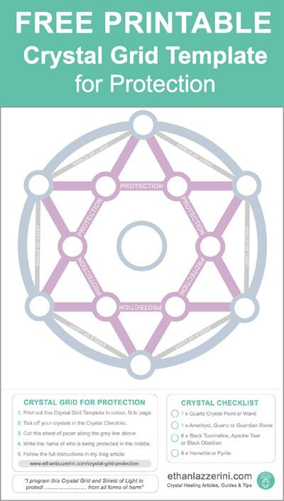 how to make a crystal grid for protection free template healing