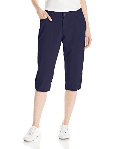 Lee Womens Petite Active Performance Jenson Capri Pant Night Sky 14 Petite  *** Check