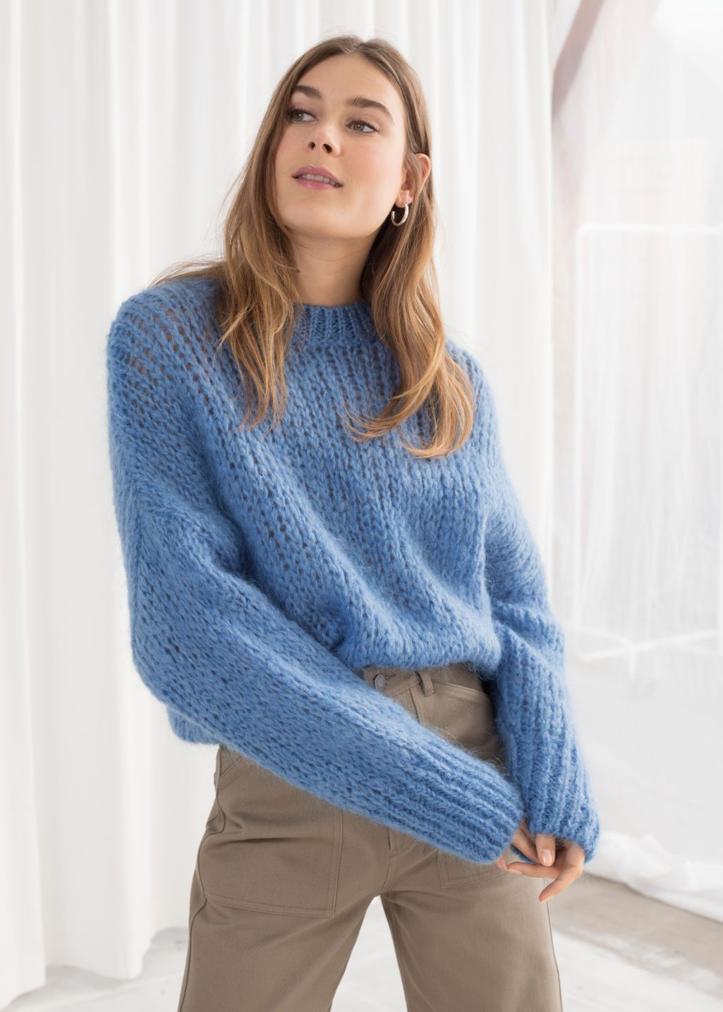 f8a92a4574b173 Wool Blend Chunky Knit Sweater in 2019 | Sweaters | Sweaters, Wool ...