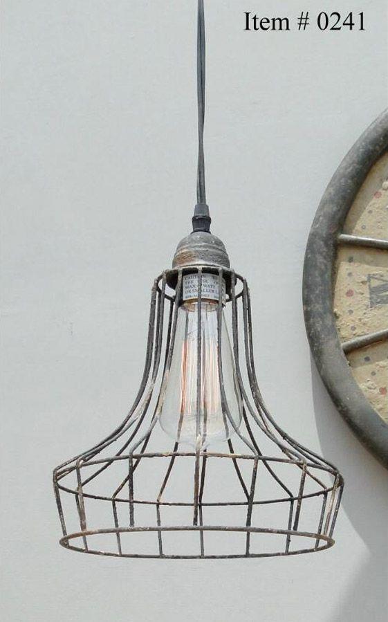 Vintage Cage Industrial Wire Frame Pendelleuchte Deckenlampe Schatten Dekor