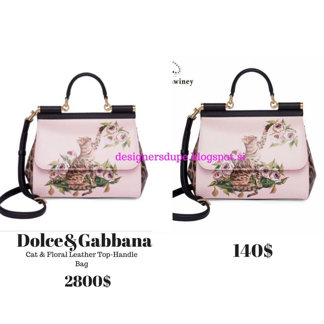 8d9a41bac2 DESIGNERS DUPE designersdupe.blogspot.si D G Sicily Cat   Floral Leather  Top-Handle Shoulder Bag Cheap Affordable Dupe  fashiondupes  designerdupe  ...
