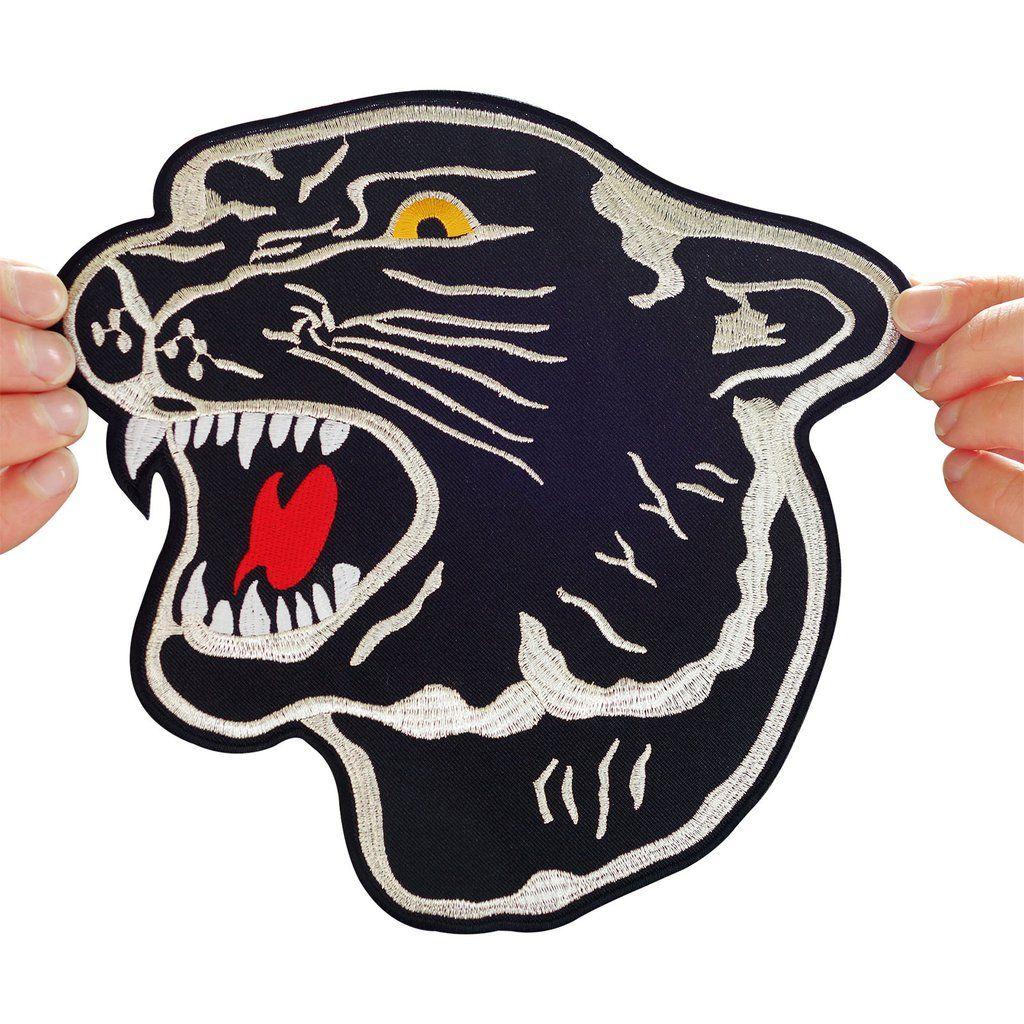 Panther Embroidered Leopard Iron-on Emblem Jaguar Wild Cat Patch Tiger Applique
