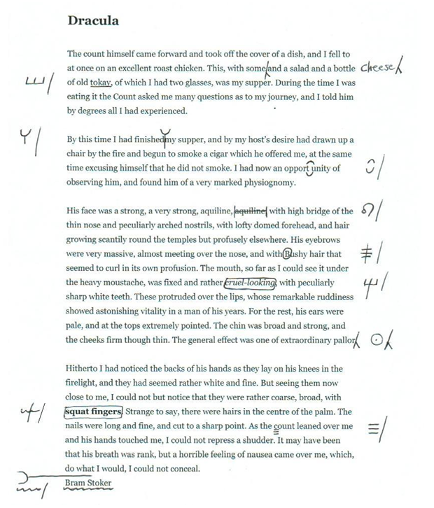 Proofreading Symbols The Writer Proofreader Essay Book Publishing