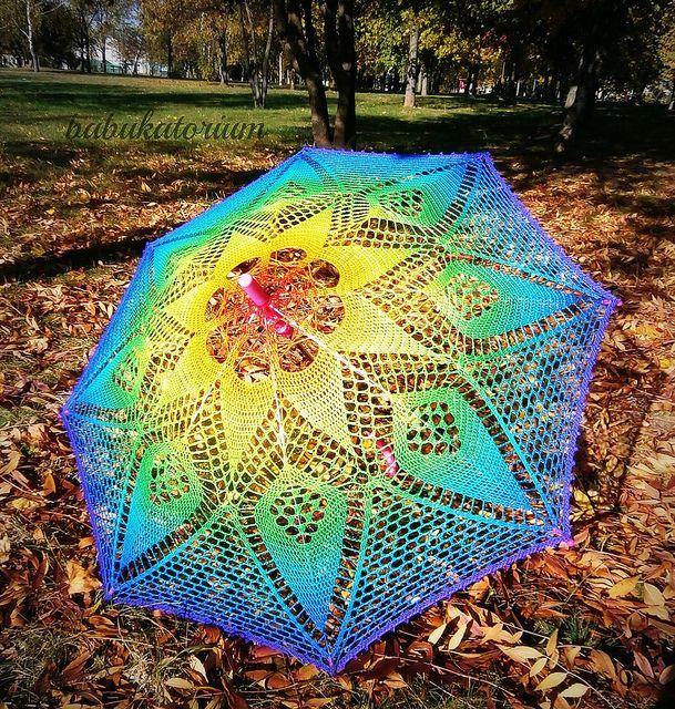 Rainbow Mandala Parasol