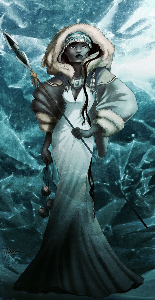 Qailertetang Inuit : female deity who cares for animals, fishers ...