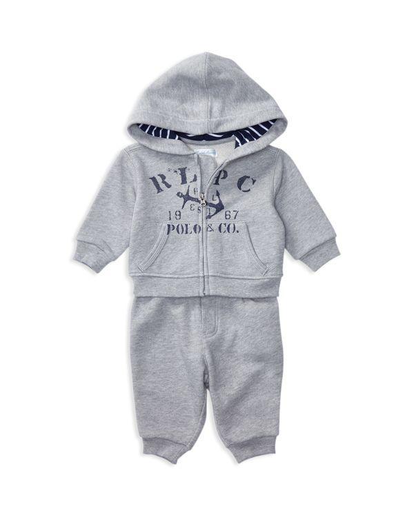 Ralph Lauren Childrenswear Infant Boys' Atlantic Hoodie & Pants Set - Sizes 3-24 Months