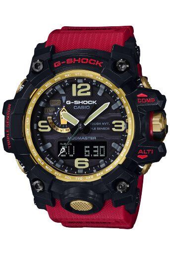 G-Shock GWG-1000GB-4A Mudmaster Red Black and Gold  80456b6e5f