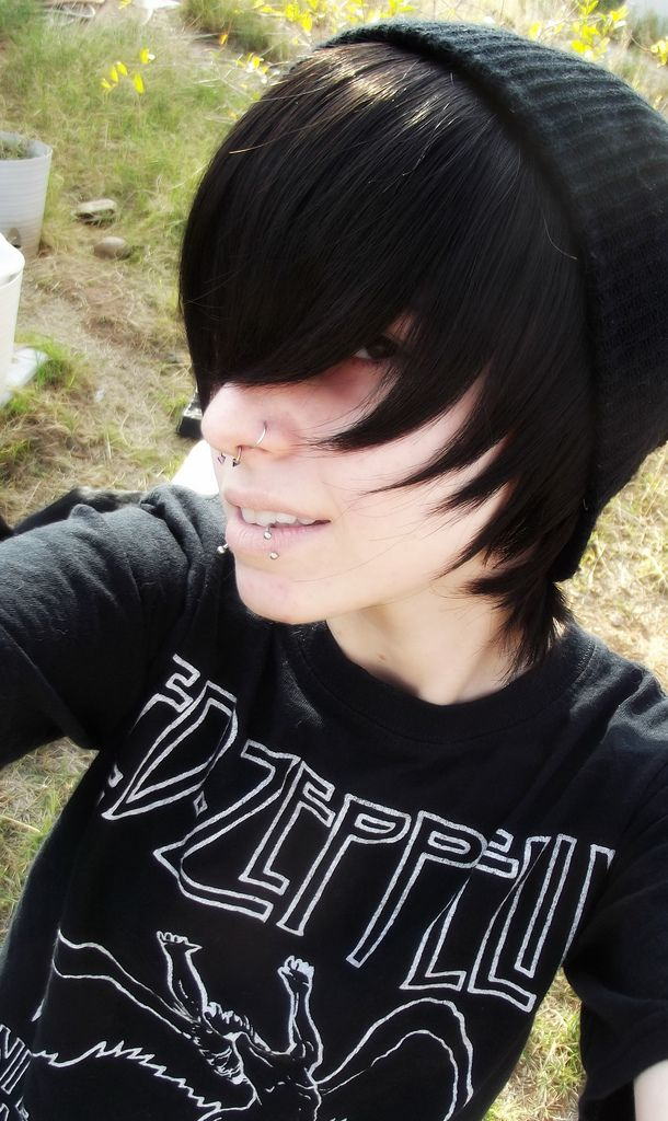 Black Emo Hair Boy