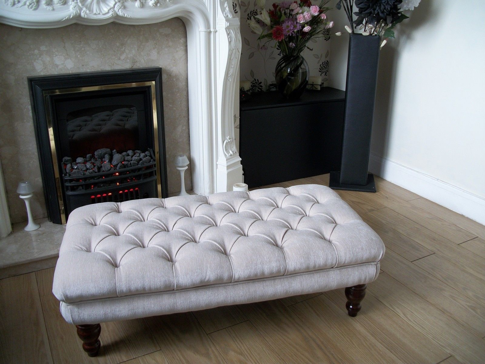 Chesterfield Style Oxford Deep Buttoned Large Footstool Coffee Table Ottoman Ebay Footstool Coffee Table Ottoman Table Fabric Coffee Table [ 1200 x 1600 Pixel ]