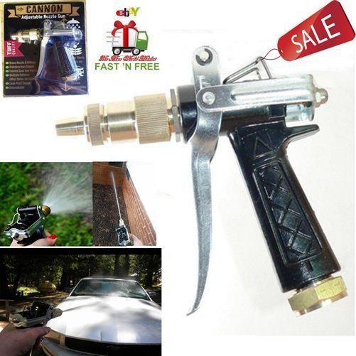 Water Gun Nozzle Sprayer Adjustable High Pressure Wash Car Mist Garden Tool Kit…