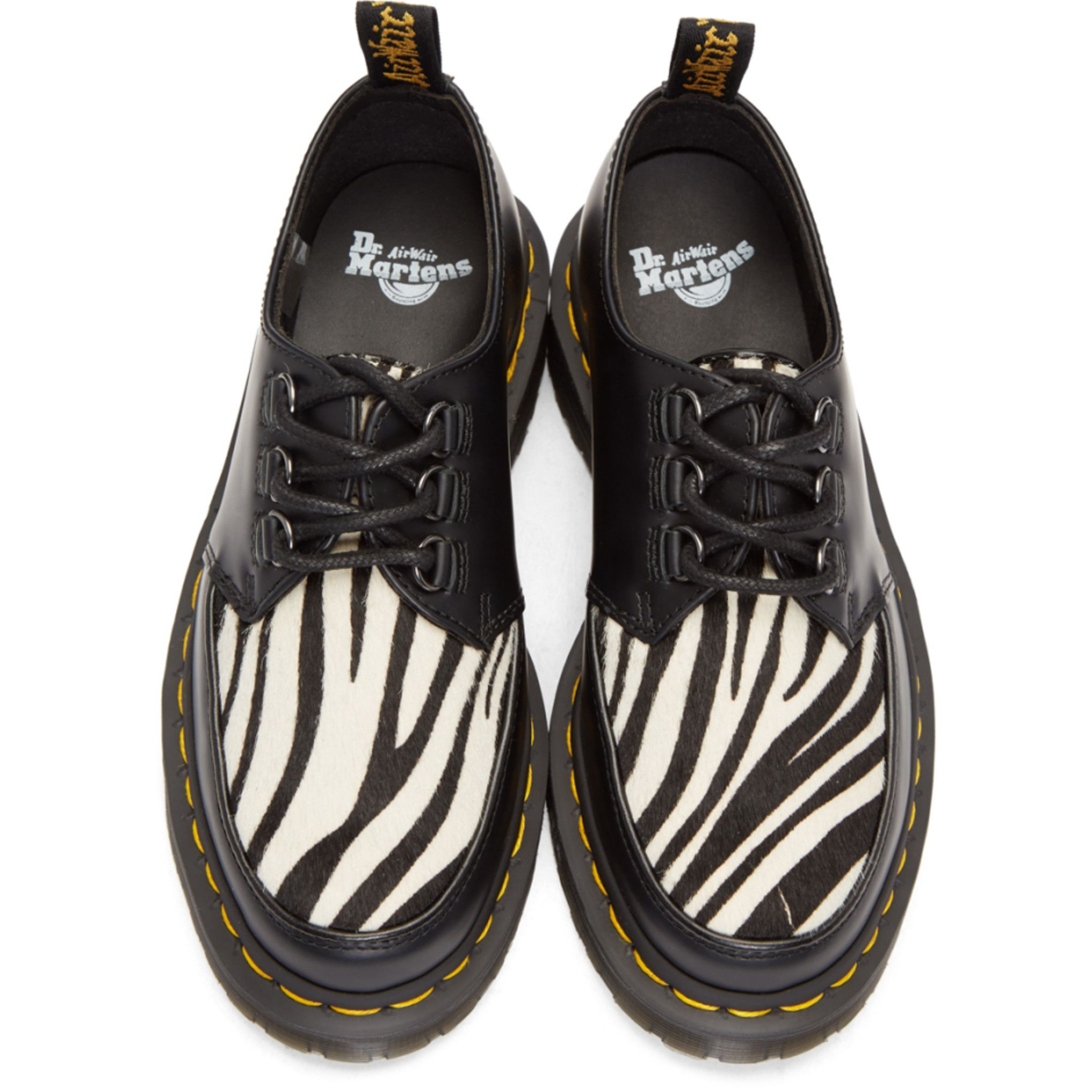 Black Ramsey Zebra Derbys Dr. Martens anR3aRm4g