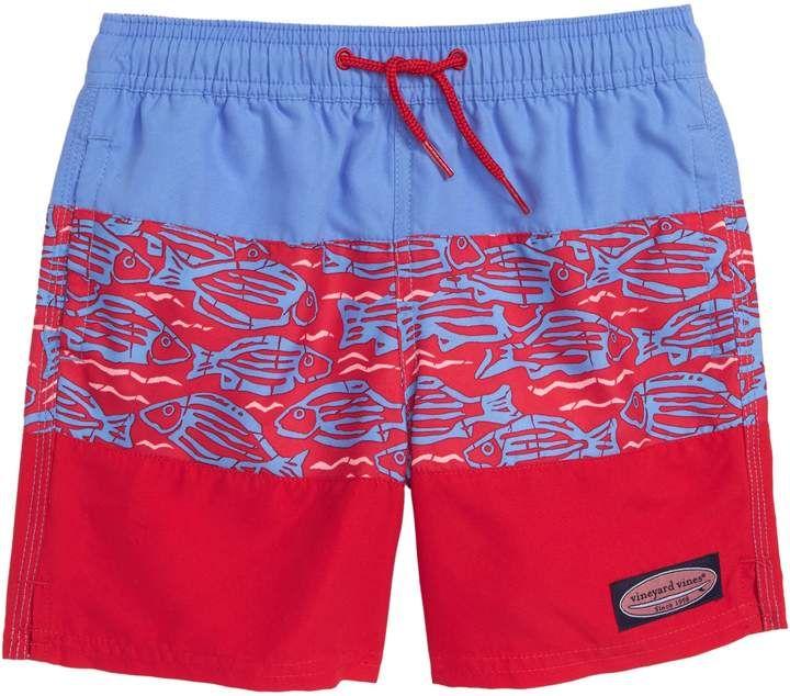 2d16f3cadfec4 Vineyard Vines Pieced Island Batik Chappy Swim Trunks