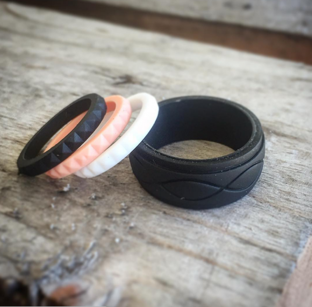 silicone rings his and hers Silicone wedding band