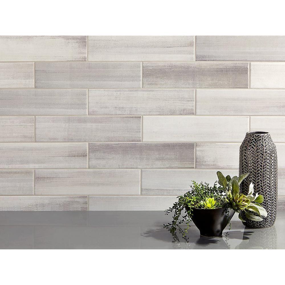 Linen Shadow Polished Ceramic Tile Kitchen Backsplash Trends Backsplash Trends Ceramic Tiles Ceramic tiles for kitchen backsplash pictures