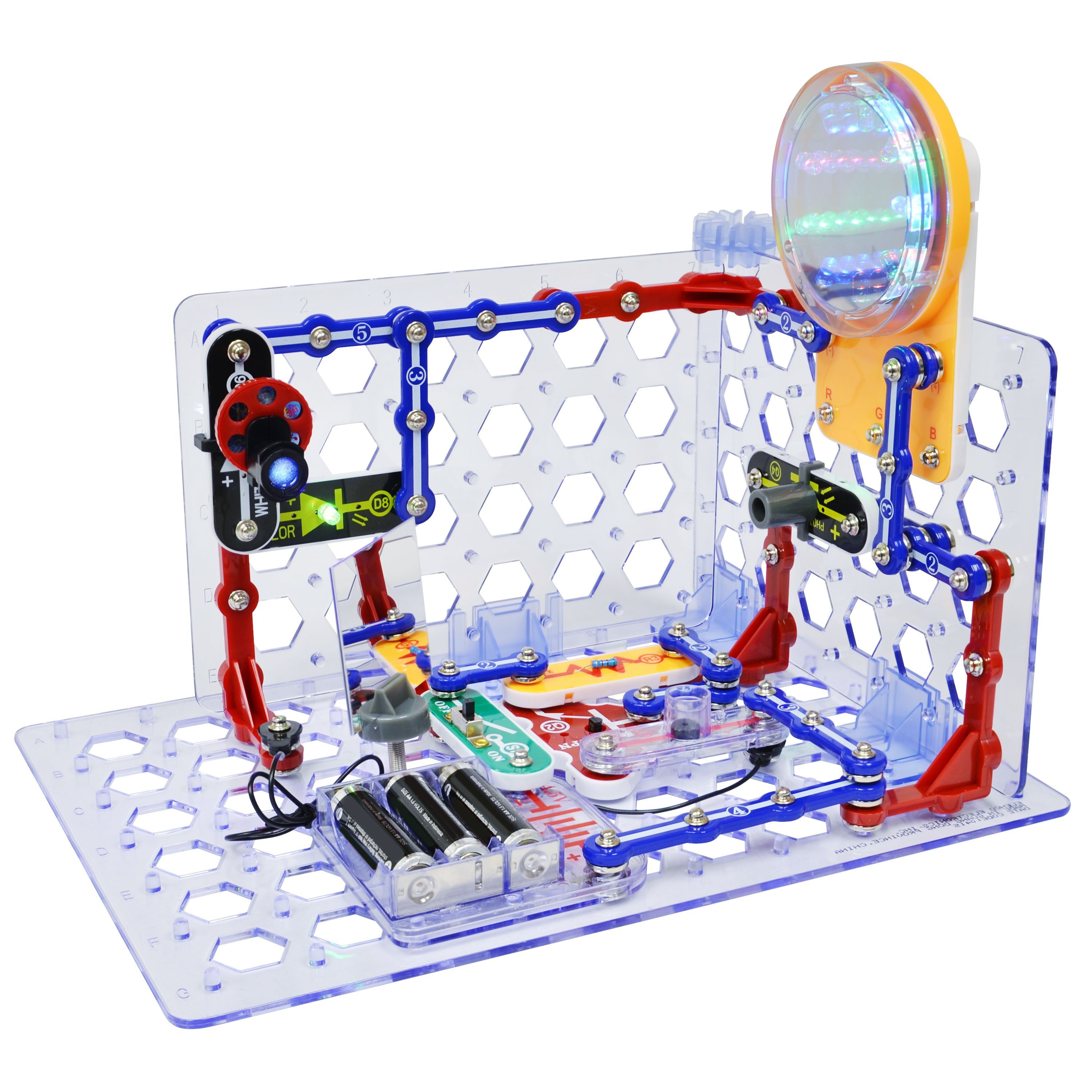 New Snap Circuits 3di Takes To A Whole Dimension Lights Electric Circuit Science Kit By Elenco It Includes 150 Different Projects All In One Light Tunnel Projector With Images
