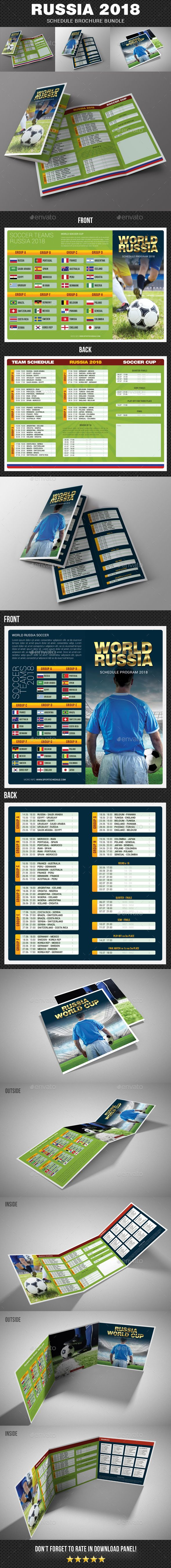 russia world soccer cup 2018 schedule brochure bundle - Egypt Brochure Templates