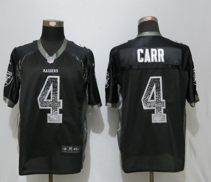 252440c6b 2017 NEW Nike Dallas Raiders 4 Carr Drift Fashion Black Elite Jerseys