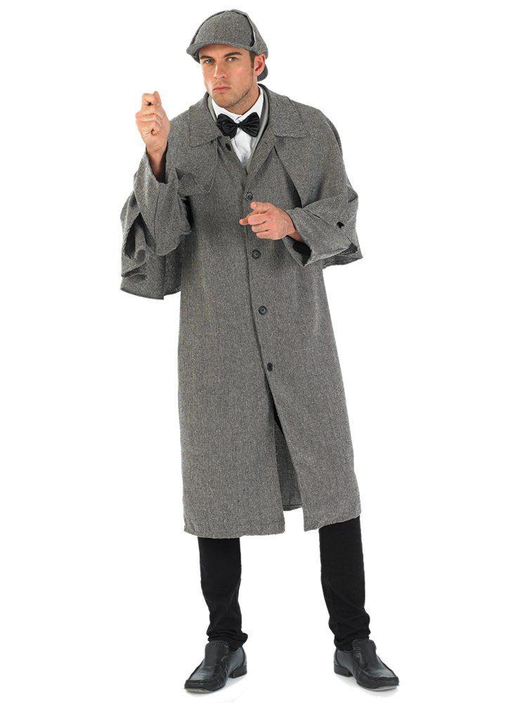 Victorian Detective – Mens Sherlock Holmes fancy Dress Costume – Adult 42-44″ Chest