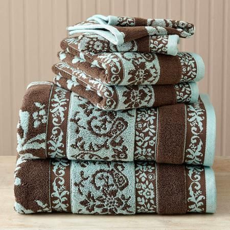 Charmant Better Homes And Gardens Thick And Plush 6 Piece Jacquard Cotton Bath Towel  Set