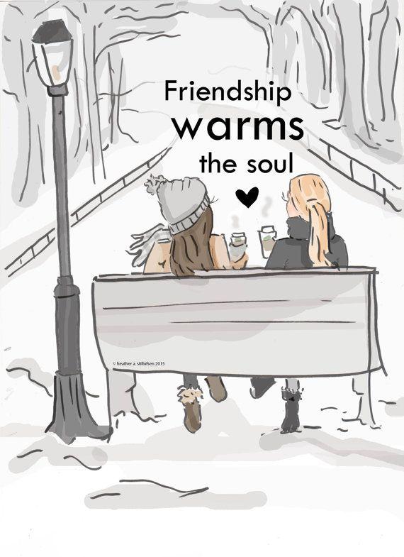 Freundschaft wärmt die Seele - Kunst für Frauen - Kurse für Frauen - Kunst für Frauen - inspirierende Kunst