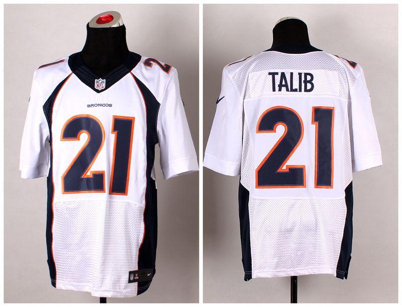 Men's NFL Nike Denver Broncos #21 Aqib Talib White Elite Jerseys