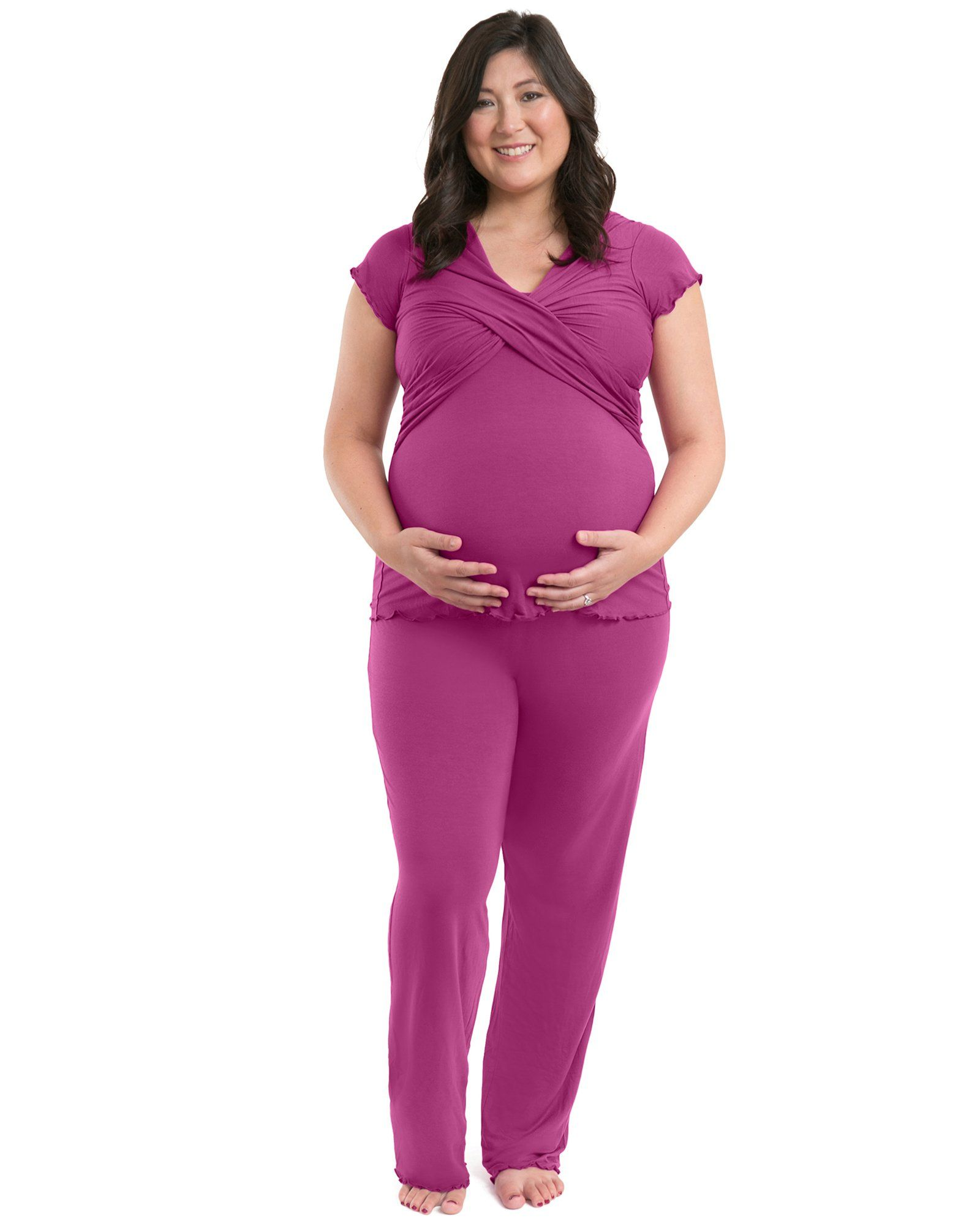 ece05b44cf1 hospital bag - Kindred Bravely Davy Ultra Soft Maternity and Nursing  Pajamas Sleepwear Set Berry XXL -- You could obtain added information at  the picture ...