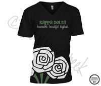 Kappa Delta Roses Tee -ΚΔ Collection. Design Exclusive to BoutiqueGreek.com