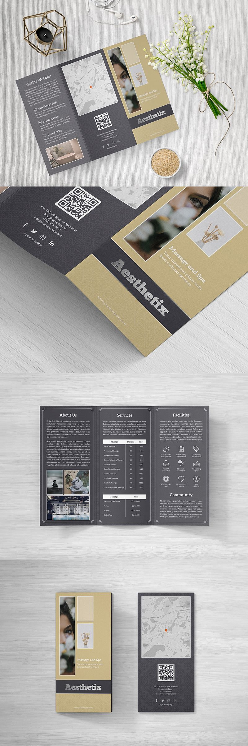 Aesthetix Trifold Brochure Duo Is Precisely Designed