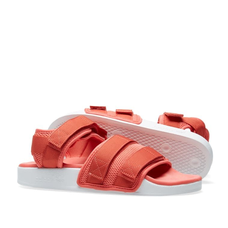 7f634291da8d Adidas Adilette Sandal 2.0 W Trace Scarlet   White 7
