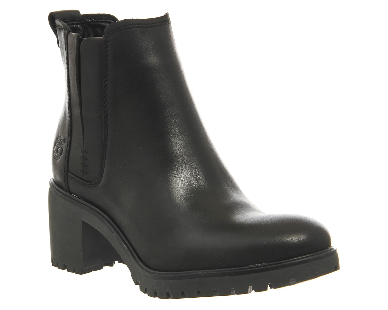 Timberland Averly Chelsea Black Smooth Leather Ankle Boots