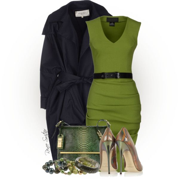 Olive Green, created by renee-switzer on Polyvore